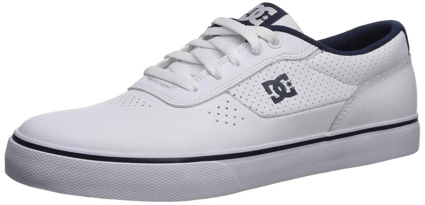 Blanc bleu bleu DC - - Baskets Basses pour Hommes 45.5 EU