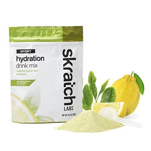 SKRATCH LABS Sport Hydration Drink Mix, Matcha Green Tea and Lemon, 20 Serving Resealable Bag
