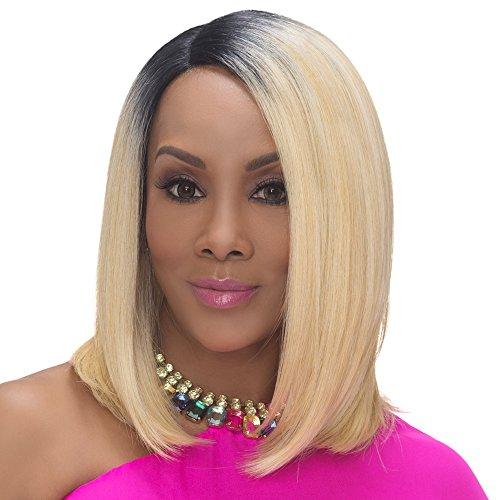 [Vivica A. Fox SANDRA New Futura Fiber, Deep Lace Front Wig in Color GM30276] (Perm Wigs)