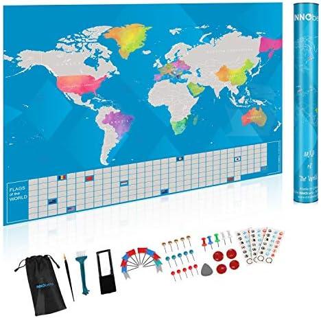 Innobeta Mapa Mundi Rascar, World Map Scratch, Mapa del Mundo para ...