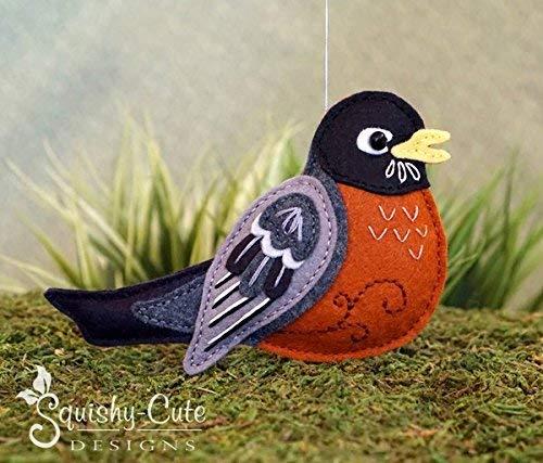 Robin Sewing Pattern Bird Ornament Felt Plushie Pattern /& Tutorial