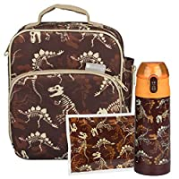 Bentology Lunch Bag Kit- Includes Insulated Lunch Box, Insulated 13oz Water Bottle, and Ice Pack - BPA & PVC Free