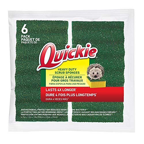 Quickie Long Lasting Heavy Duty Scrubber Sponge (6 Pack) (2052220)