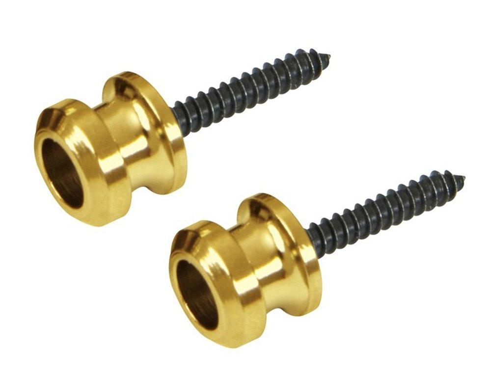 Schaller Replacement Guitar Strap Lock Buttons (2) Gold