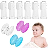 Baby : Baby Toothbrush, Bassion 6 Pack Food Grade Silicone Finger Toothbrush for Baby & Toddlers, Toothbrush Teether and Oral Massager