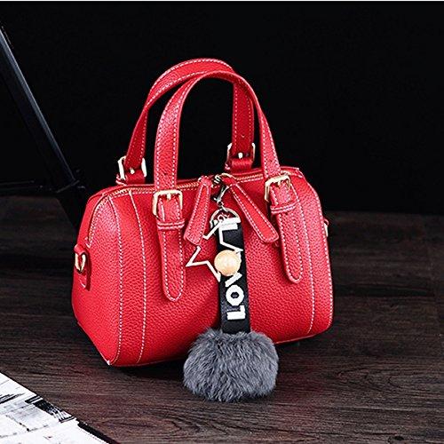 Colgante Pelle Great Rojo Negro Nero Borse Mujer Cuero Suave color In Bolso St Rosso colore San Tracolla Peluche Moda Mensajero Gran De A Felpa Dgf Appesa Bolsos Morbido Borsa Bolsa Donna rrTpqzx