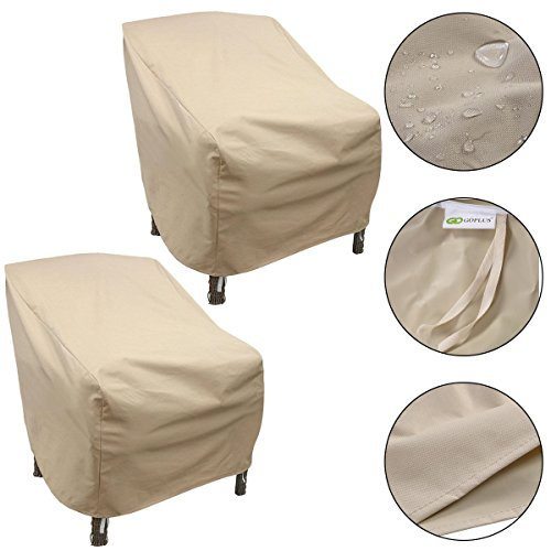 2PCS Waterproof High Back Patio Single Chair Cover Outdoor Furniture Protection