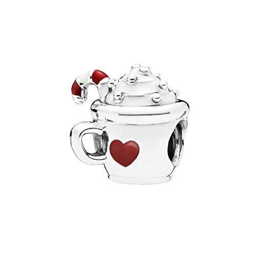 a06678cf7 Amazon.com: Warm Cocoa Charm Authentic 925 Sterling Silver Red Enamel Beads  fit European Bracelets (Red Enamel): Jewelry