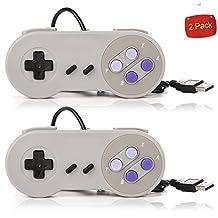 iYous 2 Pack Super Nintendo SNES USB Classic Famicom Game Controller Gamepads Joysticks for PC MAC Games