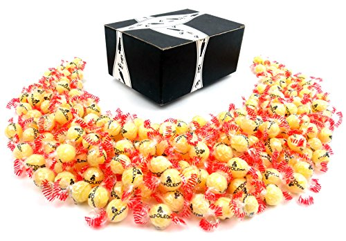 - Napoleon Lempur (Lemon) Hard Candy, 3 lb Bag in a BlackTie Box