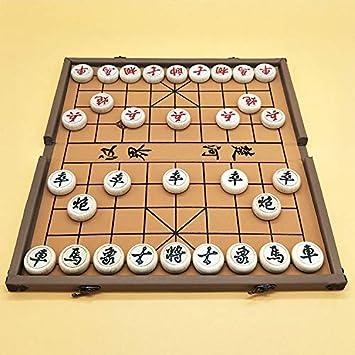 FunnyGoo Juego de ajedrez Chino de Beechwood Xiangqi con Tablero de ajedrez de Caja Plegable, ajedrez de Gran tamaño de 4cm de diámetro, el Color de la Caja Puede Variar: Amazon.es: Juguetes