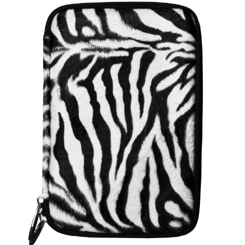 Travel Soft Case Animal Print Design For Samsung Galaxy Tab 4 7.0 & Galaxy Tab 4 8.0 (Briefcases Zebra Print)