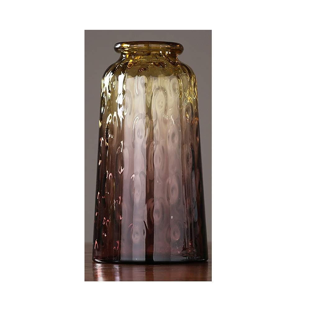 アメリカのガラス花瓶装飾家の居間のフラワーアレンジメント QYSZYG (サイズ さいず : C high 37.5CM) B07QNP5QDL  C high 37.5CM