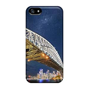 Ultra Slim Fit Hard MeSusges Case Cover Specially Made For Iphone 5/5s- Sydney Bridge Nights