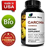Pure 95% HCA Garcinia cambogia Appetite Suppressant for Weight Loss & Detox Diet- Energy + Focus Booster - For Women and Men - Natural Supplement Extract by Nature Berg 60 capsules