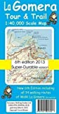 La Gomera Tour & Trail Super-durable Map by David Brawn 6th (sixth) Revised Edition (2013)