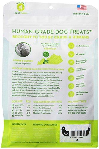 Spot Farms All Natural Human Grade Dog Treats, Chicken Apple Sausage, 12.5 Ounce by Spot Farms (Image #4)