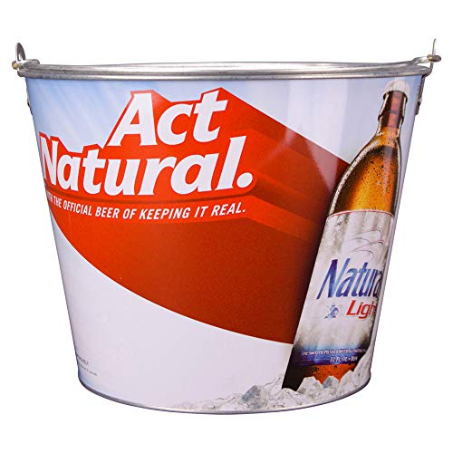 Beer Brand Full Color Aluminum Beer Bucket (Natural Light