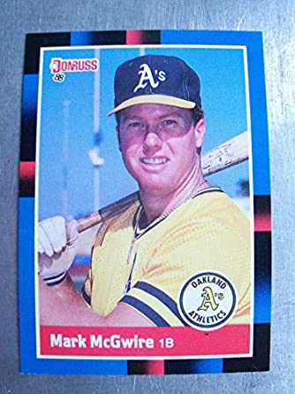 1988 Donruss 256 Mark Mcgwire Nmm Near Mintmint At Amazons