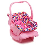 Joovy Toy Car Seat, Doll Accessory, Doll Furniture, Pink Dot