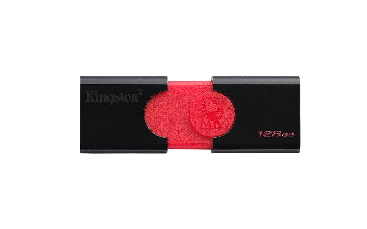 Negro y Rojo 64 GB DT106//64GB USB 3.0 Kingston DataTraveler 106 Memoria Flash