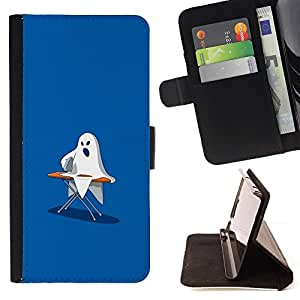 Momo Phone Case / Flip Funda de Cuero Case Cover - Ghost Ironing - Funny - HTC One M7