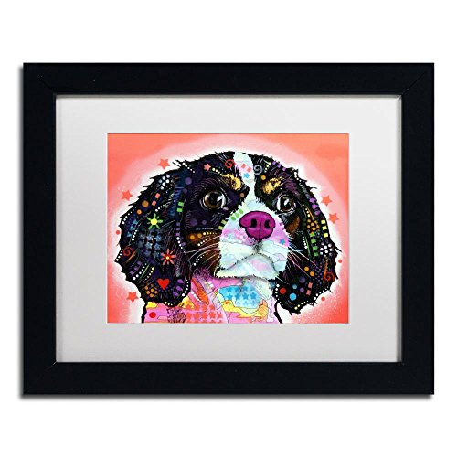 - King Charles by Dean Russo, White Matte, Black Frame 11x14-Inch
