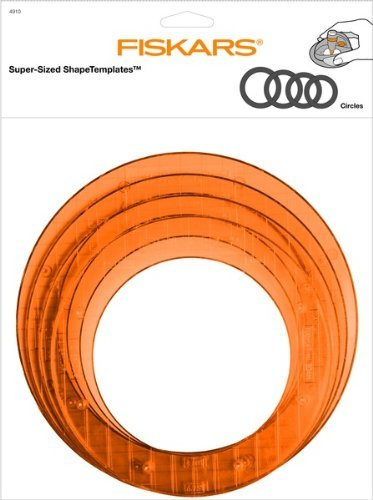 amazon com fiskars circle shape template set large 12 49107097