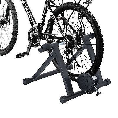 Bicycle Track Stand - Indoor Exercise Bicycle Trainer Magnetic 5 level Resistance Stand Stationary