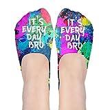It's Everyday Bro Polyester Cotton Deodorant 3D Boat Socks Non Slip Socks For Women Girl