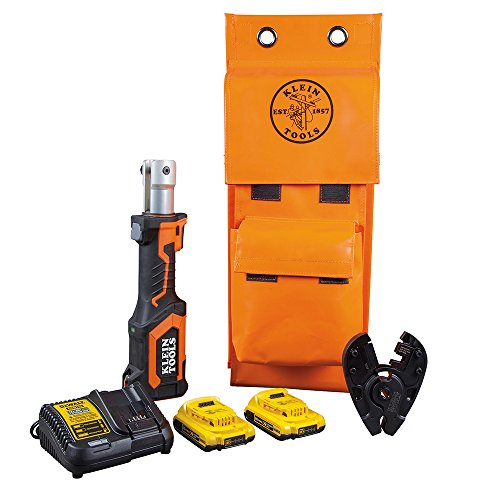 Klein Tools BAT207T5 Bolt Cutter, Power Tool Runs on 20V DeWALT 2 Ah Batteries, Cuts 3/8-Inch EHS and Grade 8 Bolts with 7-Ton Force