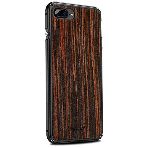 Vuage(TM) iPhone 7プラス7 6S 6プラスオリジナルの木製+メタルフレーム完璧な統合携帯電話のカバーケース新のために天然木の電話ケース B07BSFST1ViPhone 6 6Sプラス2