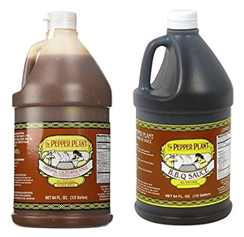 The Pepper Plant Variety Pack  BBQ Sauce 1/2 Gallon Jug  Ori