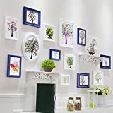Home@Wall photo frame Decorative Photo Frames ,13 Pcs/sets Collage Photo Frame Set,Vintage Picture Frames,Family Picture Frame Wall DIY Photo Frame Sets For Wall ( Color : E )