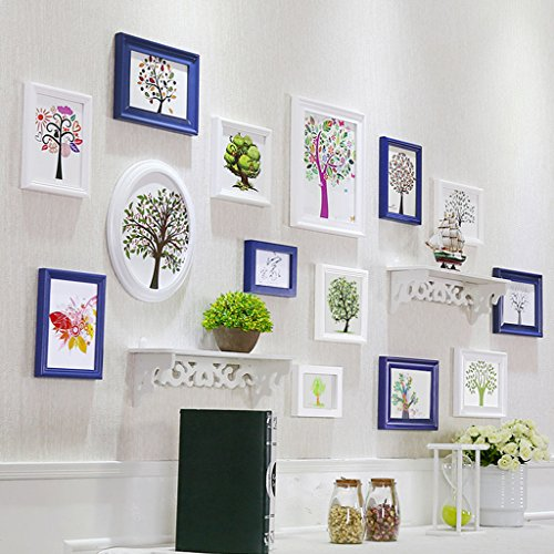 Home@Wall photo frame Decorative Photo Frames ,13 Pcs/sets Collage Photo Frame Set,Vintage Picture Frames,Family Picture Frame Wall DIY Photo Frame Sets For Wall ( Color : E ) by ZGP