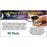 EMF Protection - Cell Phone Radiation - Protect Your Family - 10 Pack - Ultra Slim Design - Developed by Board Certified Natural Doctor