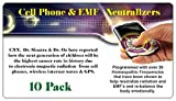 Cell Phone Radiation Neutralizing Stickers are programmed with Homeopathy Frequencies to assist in neutralizing the damaging effects of radiation. Phones with Wireless Internet Need 2 Stickers. Simply place near the battery compartment.  Can be put i...