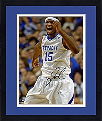 "Framed DeMarcus Cousins Kentucky Wildcats Autographed 8"" x 10"" Yelling Photograph - Fanatics Authentic Certified"