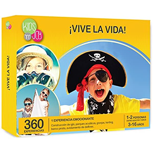 NJOY Experiences - Caja Regalo - ¡VIVE LA VIDA! - Más de 360 ...