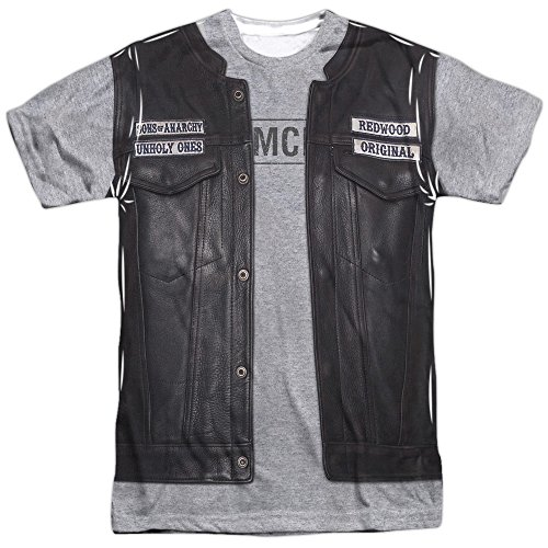 (Sons of Anarchy Unholy Costume (Front Back Print) Mens Sublimation)