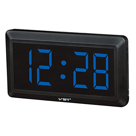 Homyl LED Reloj Digital de Pared Escriotorio Mesa con 4inchs Pantalla Grande - Enchufe UE -