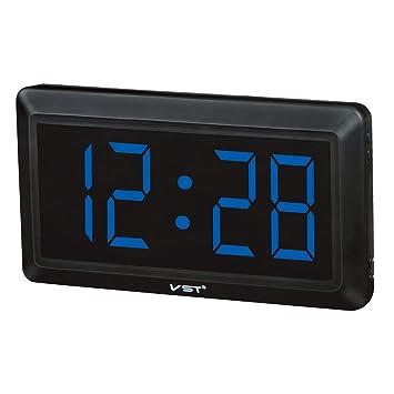 MagiDeal LED Reloj Digital con 4 Pulgadas Pantalla Grande Visualización de 24 Horas - UE - Azul: Amazon.es: Hogar