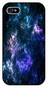 iPhone 5 / 5s Deep blue nebula - black plastic case / Space, star, stars