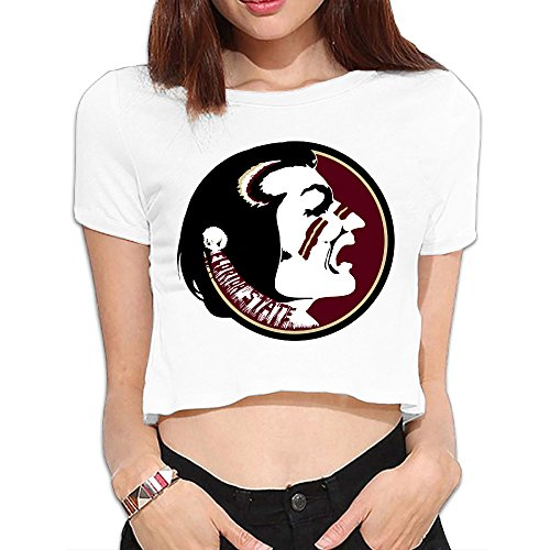 TLK Custom Women Florida State Seminoles Cotton Crop Top