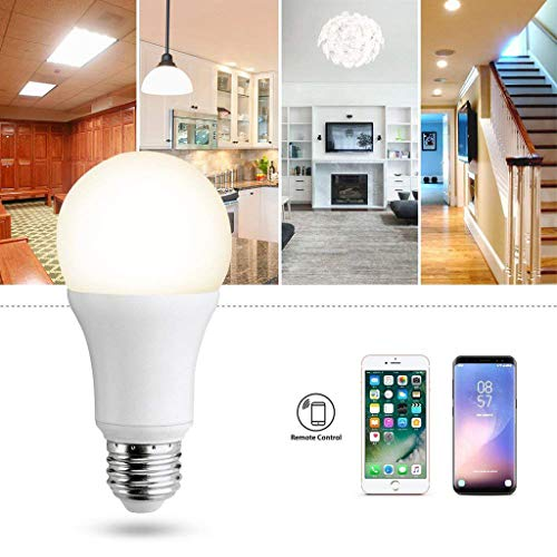 Gotian WiFi Smart Lamp LED Dimmable Light Bulb 7W, E27 Smart Home Bulb Wireless Control Smart LED Lamp Reduce Energy Smart Managed Smart Wi-Fi LED Lamp Used in Indoor Outdoor