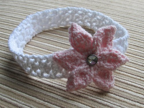 Knitting Pattern Headband with a Flower for a Baby Girl