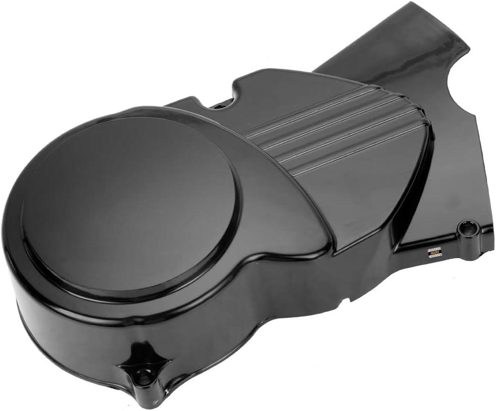 HIAORS Black Left Engine Stator Cover for CRF50 XR50 SSR 50cc 70cc 90cc 110cc 125cc Thumpstar Apollo Stomp Pitster Pro Taotao Coolster Roketa Chinese Dirt Pit Bike