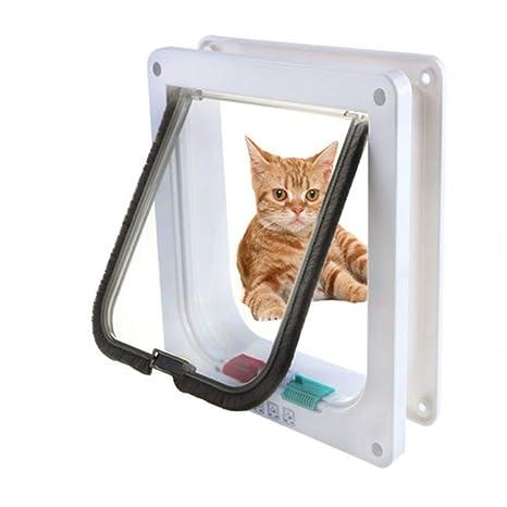 Suneven - Puerta de pases para mascotas de plástico ABS, puerta para perro, puerta