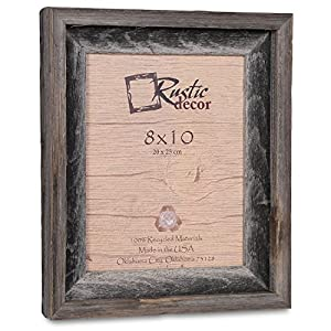 8x10 picture frames signature barnwood reclaimed wood photo frames