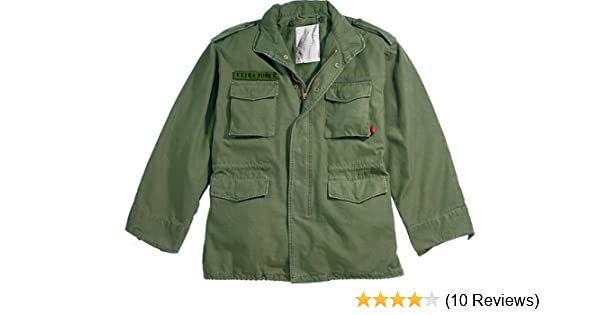 Amazon.com  Olive Drab Military Vintage M-65 Field Jacket 8603 Size Medium   Military Coats And Jackets  Clothing 80da7686aba